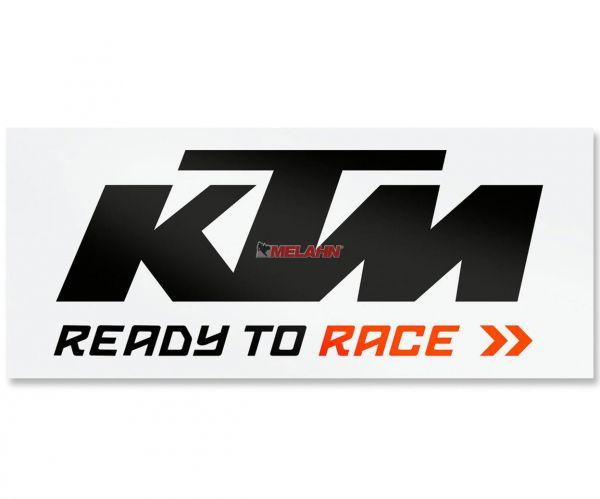 KTM Folien-Aufkleber Bus: Logo 115x46cm, schwarz/weiß