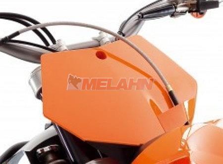 KTM Starttafel SX 07-12 / EXC 12-13 / SMR 08-12, vorne, weiß