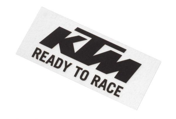 KTM Aufkleber: Logo 8,4x3,4cm, schwarz