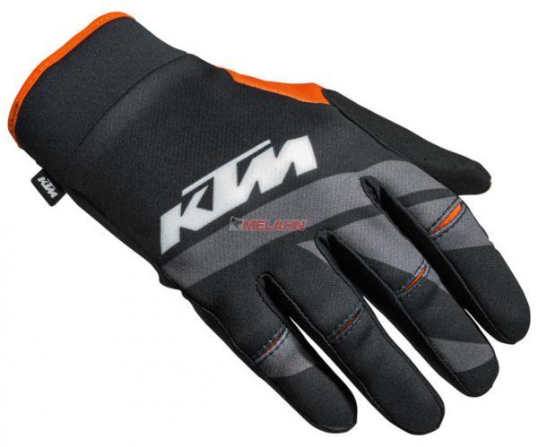 KTM Handschuh: Racetech, schwarz/grau/orange