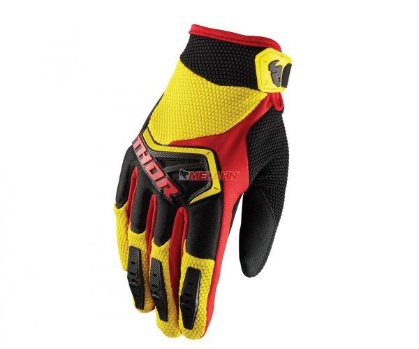 THOR Handschuh: Spectrum, gelb/schwarz/rot