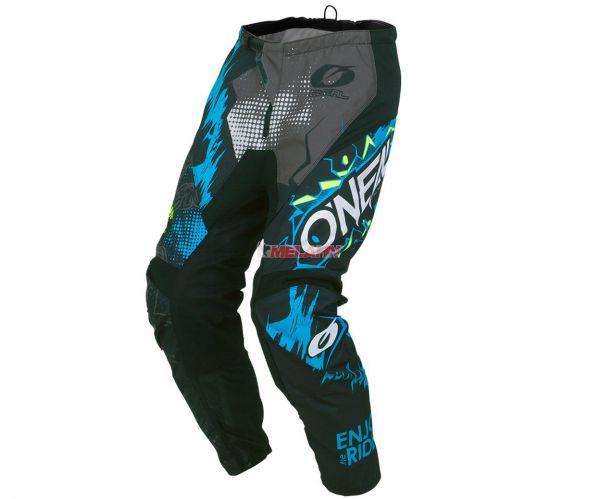 ONEAL Hose: Element VILLAIN, schwarz/grau/blau/rot