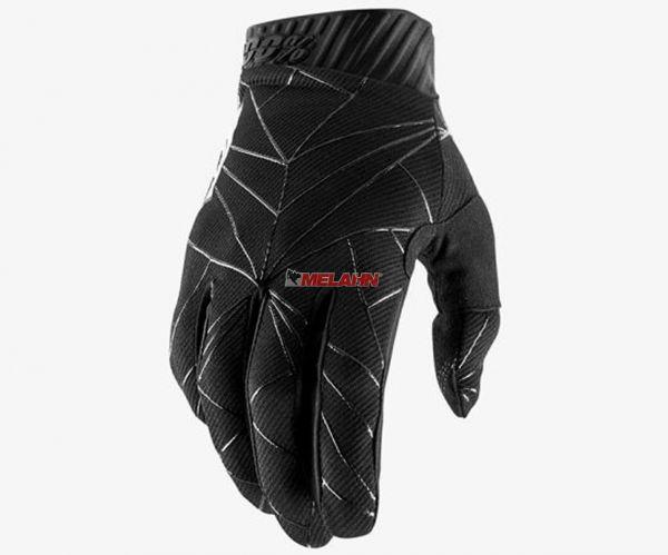 100% Handschuh: Ridefit , schwarz/weiß