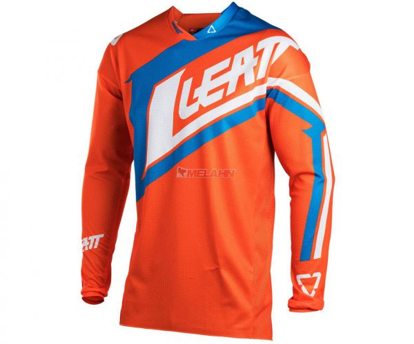 LEATT Jersey: GPX 4.5 Lite, orange/blau