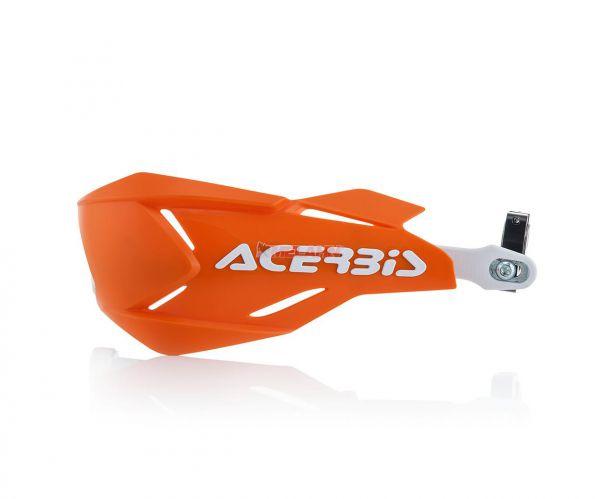 ACERBIS Handprotektor (Paar): X-Factory, weiß/orange