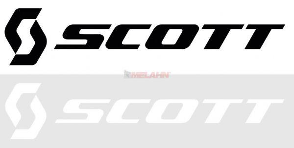 SCOTT Folienaufkleber horizontal, weiß