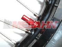 ZAP Aluminium-Reifenhalter-Mutter, 1 Stück, rot