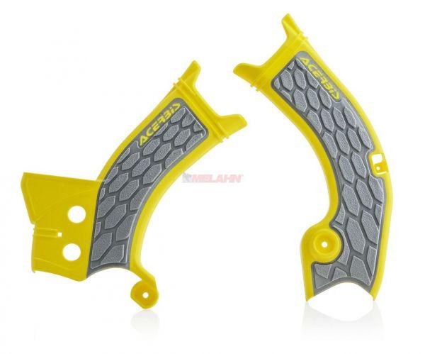 ACERBIS Rahmenschützer (Paar): X-Grip, gelb/grau, RMZ 450 18-