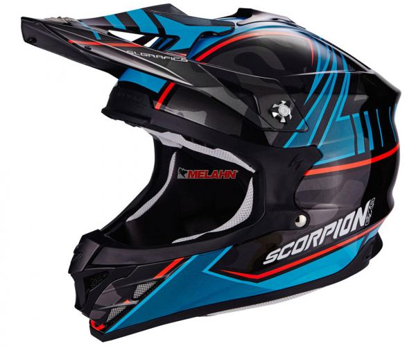 SCORPION Helm: VX-15 Evo Air Miramar, schwarz/blau