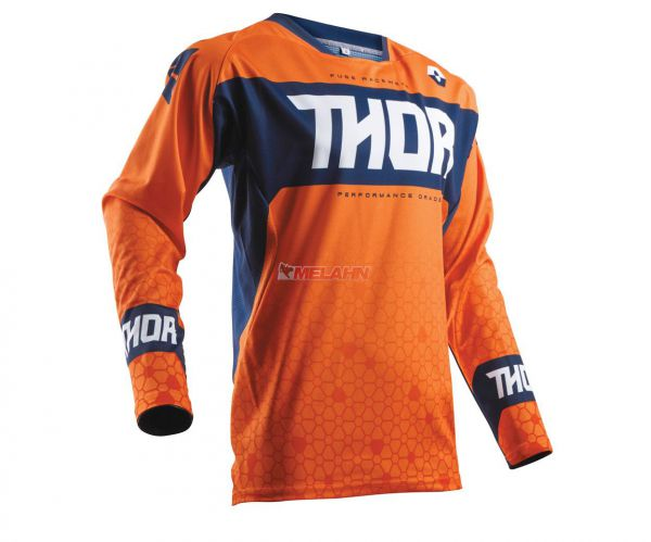 THOR Jersey: Fuse Bion, orange/blau