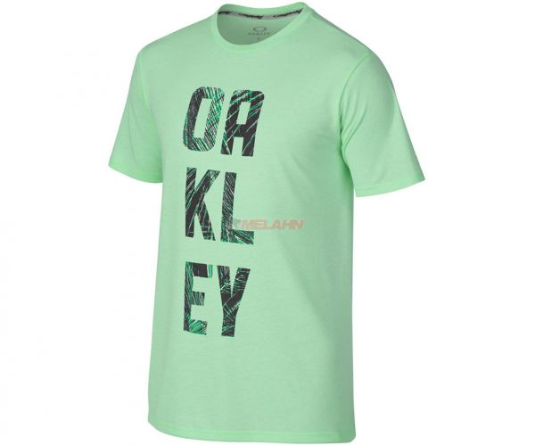 OAKLEY T-Shirt: O-Train Palm Fill, hellgrün