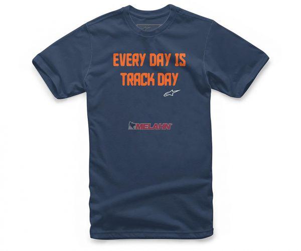 ALPINESTARS T-Shirt: Track Day, navy/orange