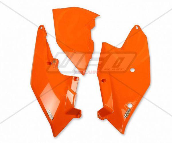 UFO Seitenteile (Paar) und Filterkastendeckel li., KTM SX 16- / EXC 17-, orange98
