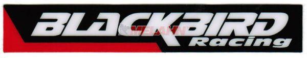 BLACKBIRD Aufkleber 12x2,5cm, rot/schwarz