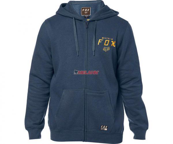 FOX Zip-Hoody: Darkside, blau