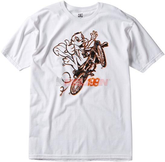 DC SHOES T-Shirt: Travis Pastrana, Boost Flips, weiß