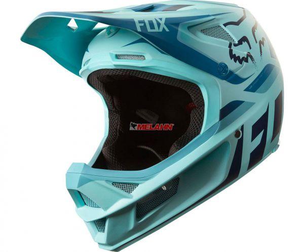 FOX MTB-Helm: Rampage Pro Carbon Seca, eisblau