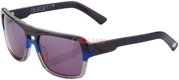 100% Sonnenbrille: Burgett, schwarz/blau/grau