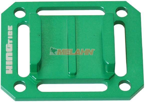 KINGTIDE Aluminium-Adapterplatte: Strap Plate, grün