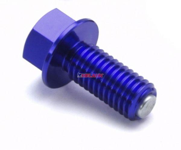 ZETA Aluminium-Ölablassschraube magnetisch M10x15 1.5, blau