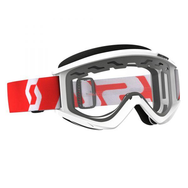 SCOTT Brille: Recoil Xi Enduro, weiß/rot, klares Glas