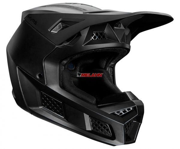 FOX Helm: V3 Solids, matt schwarz