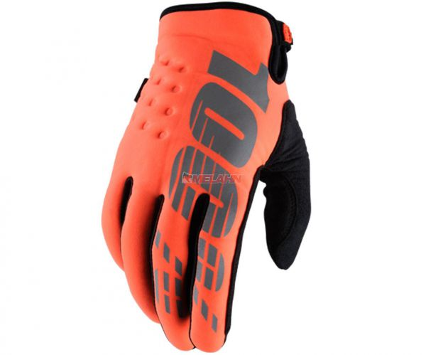 100% Handschuh: Brisker, Neopren, orange