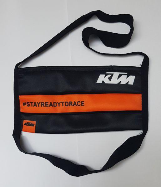 KTM Maske ohne Zertifizierung: Face Mask, schwarz/orange