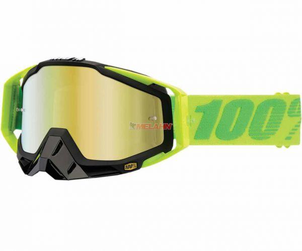 100% Brille: Racecraft Sour Patch, neon-grün/gold