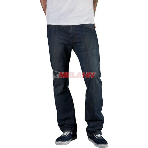 FOX Jeans Hose: Throttle Dirty Rinse, blau