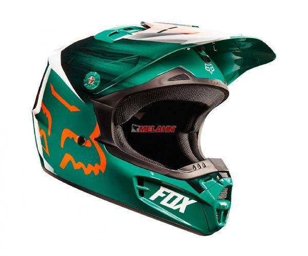 FOX Kids Helm V1 Vandal, grün/orange,YM