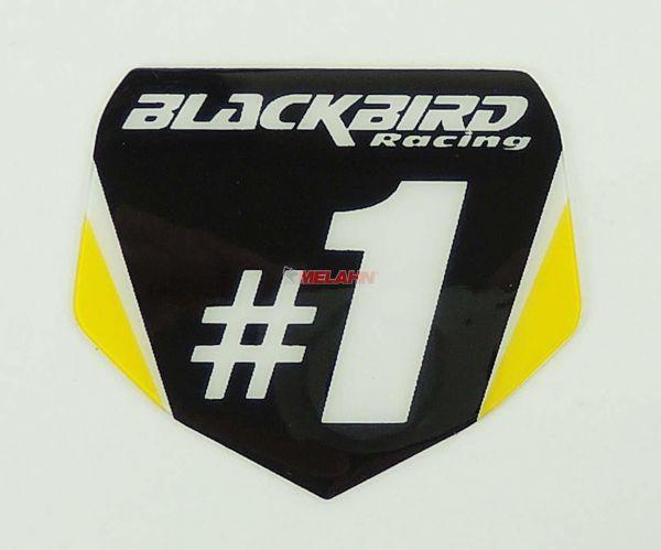 BLACKBIRD Aufkleber Starttafel 5,5x5cm, schwarz/gelb