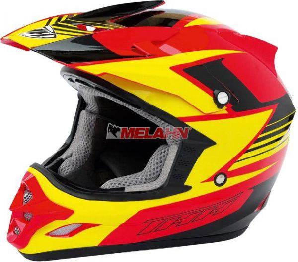 THH Helm: TX 23, gelb/rot/schwarz