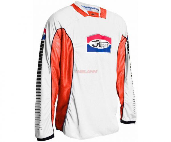 JT-RACING Hemd: Pro Tour, weiß/orange