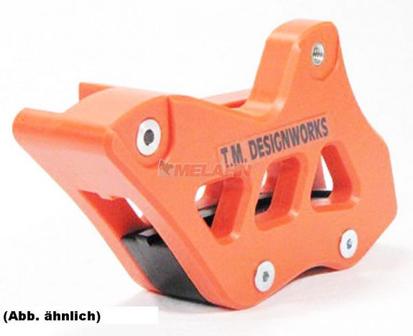 T.M. DESIGNWORKS Kettenführung Enduro Factory Edition 2 SX 07- / EXC/SMR 08-, orange