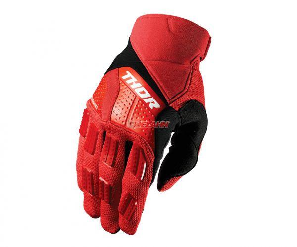 THOR Handschuh: Rebound, rot/schwarz
