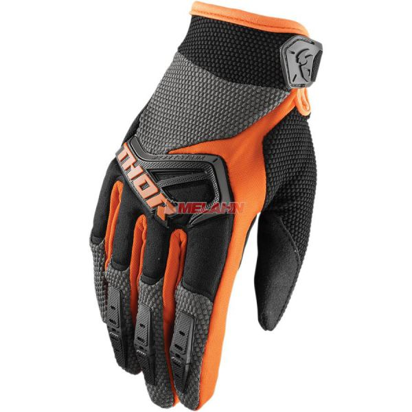 THOR Kids Handschuh: Spectrum, orange/grau