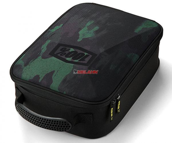 100% Brillentasche, camo black/green