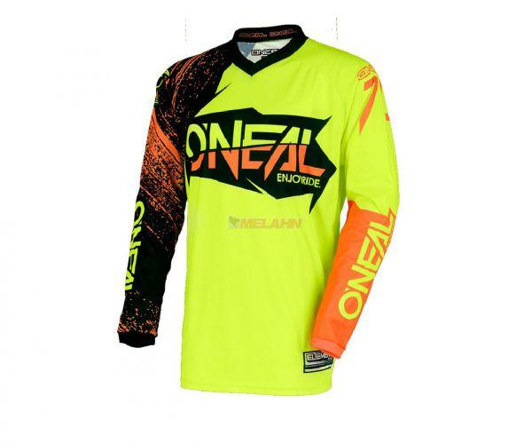 ONEAL Jersey: Element Burnout, schwarz/neon-gelb/orange