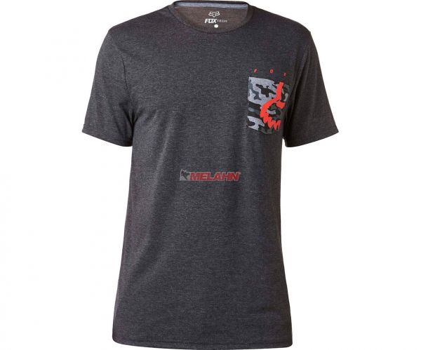 FOX T-Shirt: Eyecon Pocket, schwarz melange