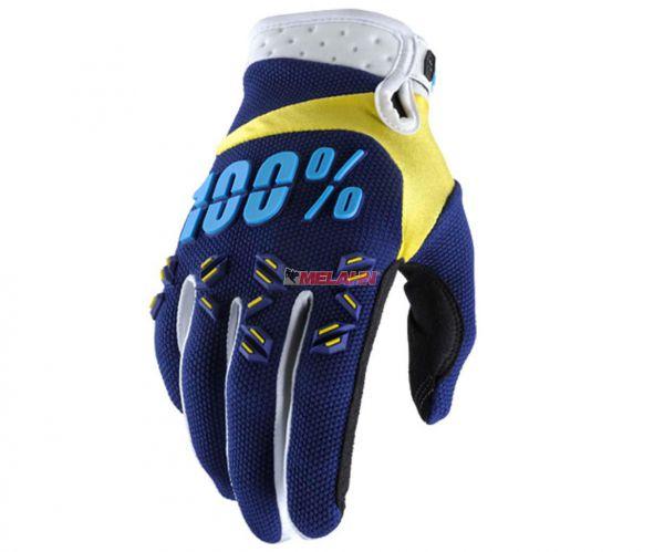 100% Handschuh: Airmatic, navy/gelb