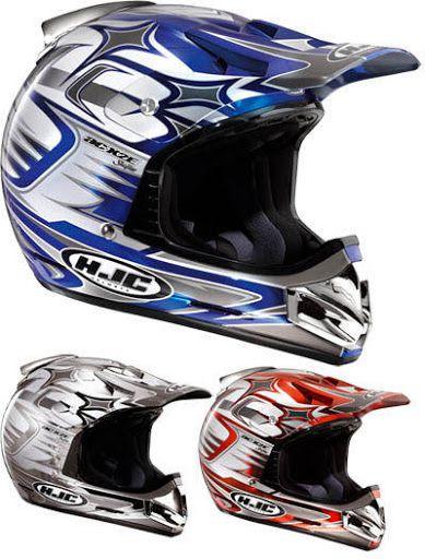 HJC Helm: AC-X2E Shifter glänz.-chrome, rot