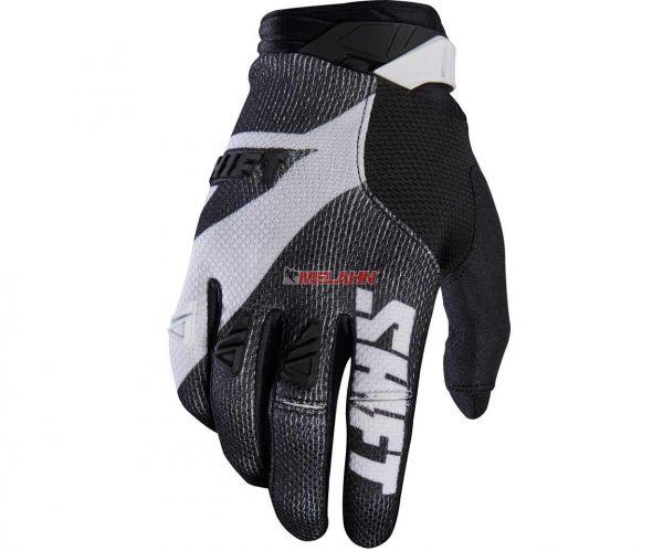 SHIFT Handschuh: 3Lack Pro, schwarz/weiß