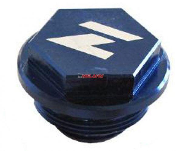 ZAP Aluminium-Deckel Fußbremszylinder HUSABERG/HUSQVARNA, blau