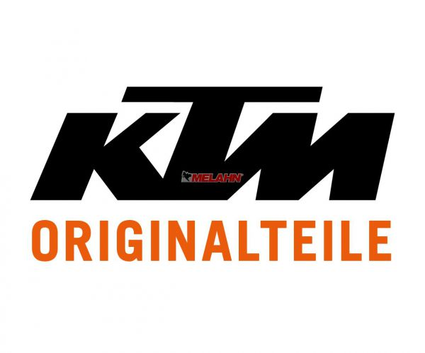 KTM Gabelschützer WP (Paar) offene Form mit Dekor, weiß, EXC 2016 SIX DAYS