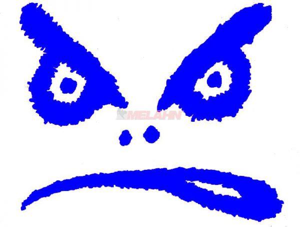 LIFES A BEACH Aufkleber TDC: Bad Boy Augen, 12x15cm, blau