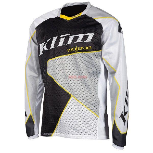 KLIM Jersey: Mojave, weiß/schwarz/grau/gelb
