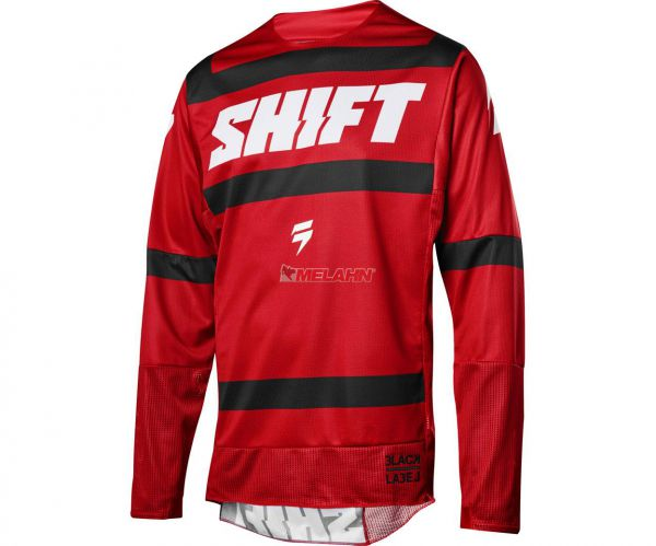 SHIFT Jersey: 3lack Strike, dunkelrot