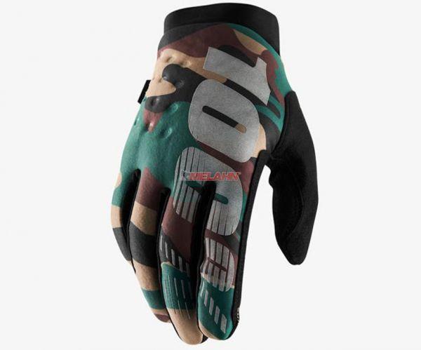 100% Handschuh: Brisker, Neopren, camo schwarz
