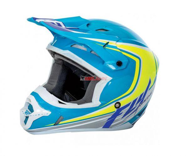 FLY Kids Helm: Kinetic Flex, blau/grün